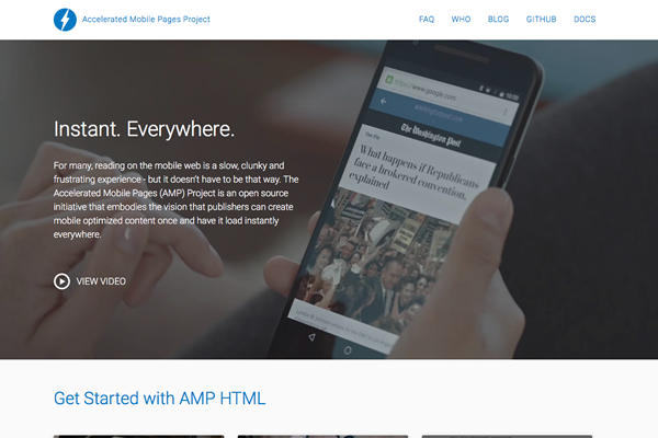 Accelerated Mobile Pages Projectイメージ